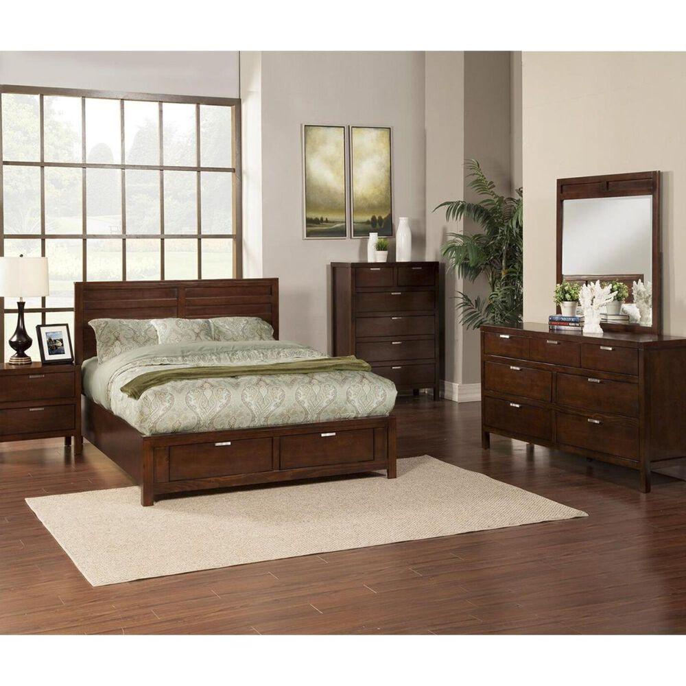 Alpine Furniture Carmel King Storage Bed in Cappuccino, , large