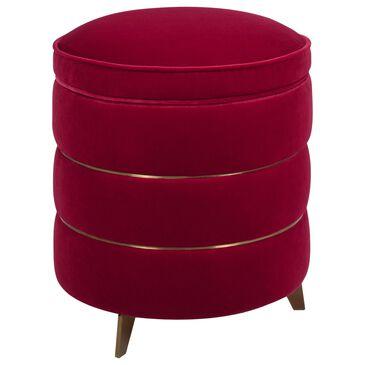 Jennifer Taylor Home Midas Storage Ottoman in Siren Red Velvet, , large