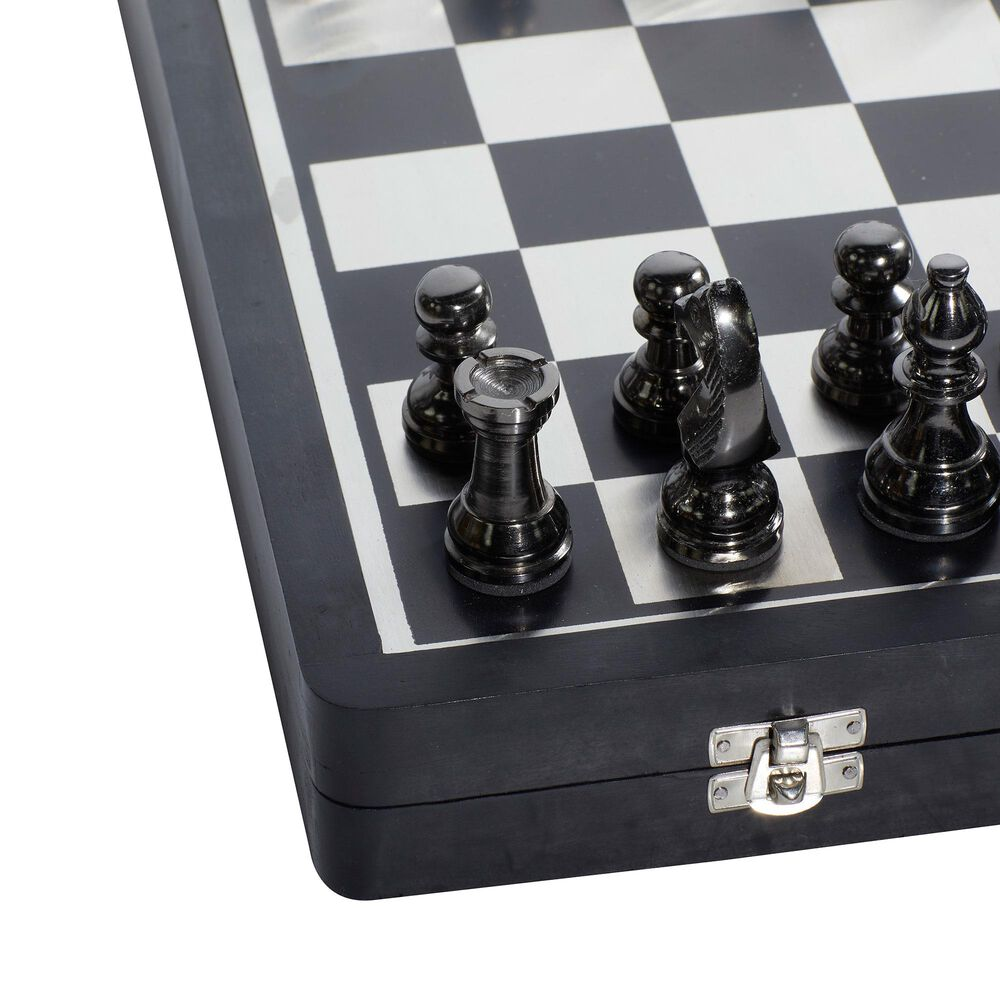 """Maple and Jade 15"""" x 16"""" Traditional Aluminum Game Set in Black, , large"""