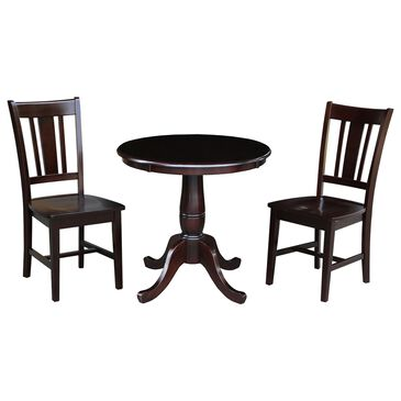 International Concepts San Remo Transitional 3-Piece Dining Set in Rich Mocha, , large