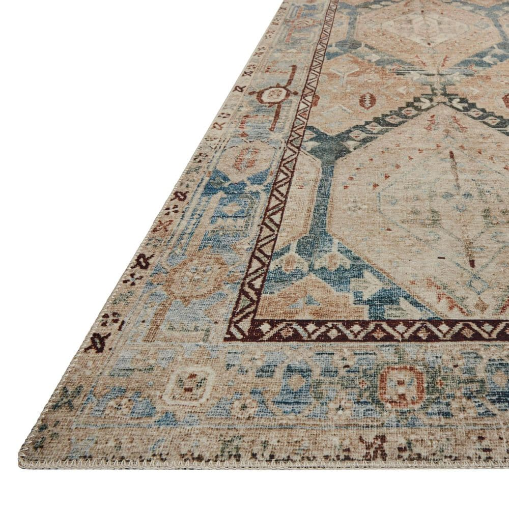 "Magnolia Home Lenna LEA-05 2'6"" x 9'6"" Denim and Sand Runner, , large"