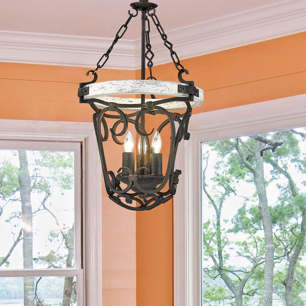 Golden Lighting Madera 3-Light Pendant in Antique Black Iron, , large