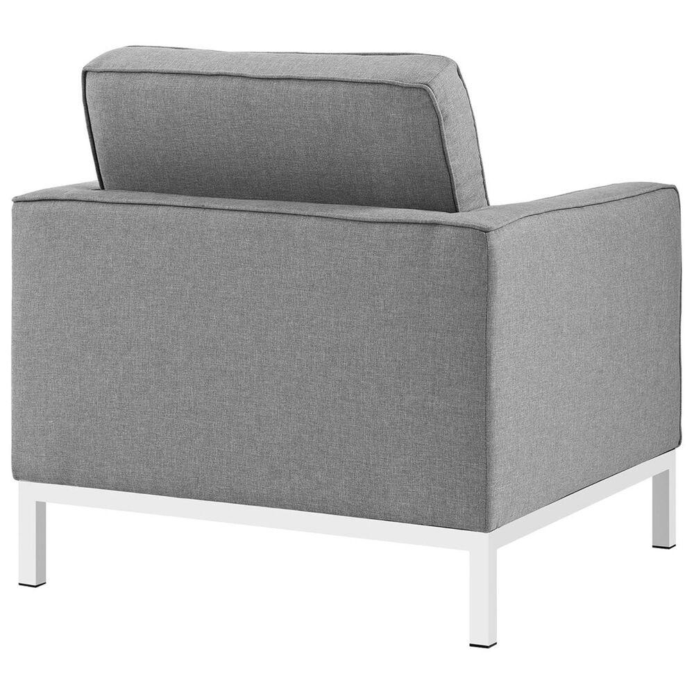 Modway Loft Fabric Armchair in Light Gray, , large