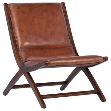 Blue Sun Designs Gibbs Occasional Chair in Brown Leather, , large