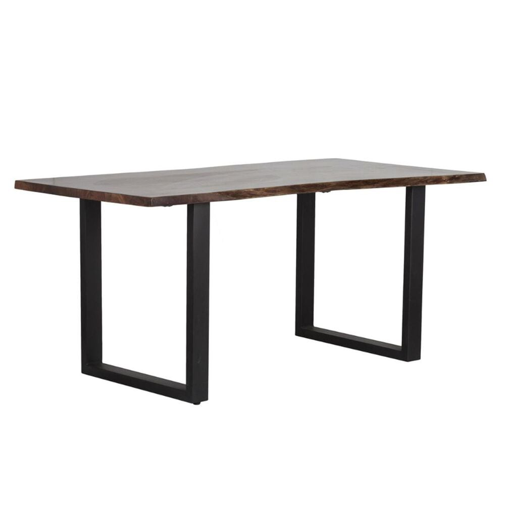 Greenbrier Interiors Denton Dining Table in Iron and Acacia - Table Only, , large