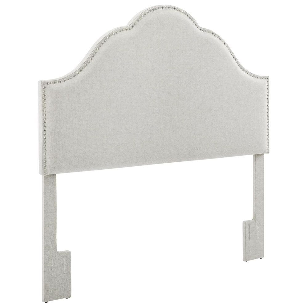 Accentric Approach Accentric Accents Benton Full/Queen Upholstered Headboard in White, , large
