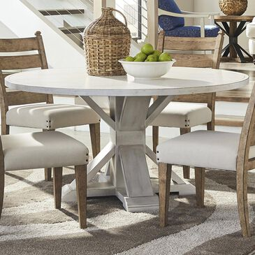 Trisha Yearwood Home Collection Coming Home Round Table in Chalk - Table Only, , large