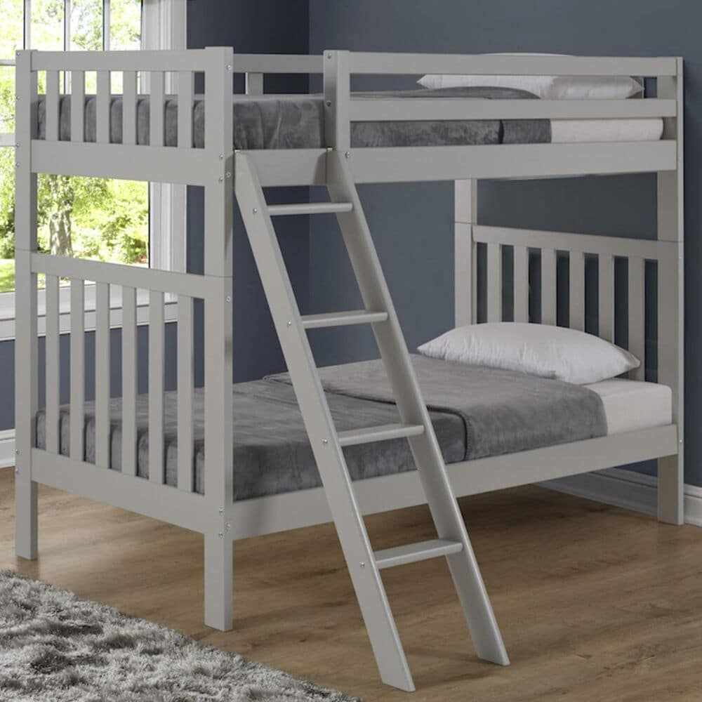 Bolton Furniture Aurora Twin over Twin Bunk Bed in Dove Gray, , large