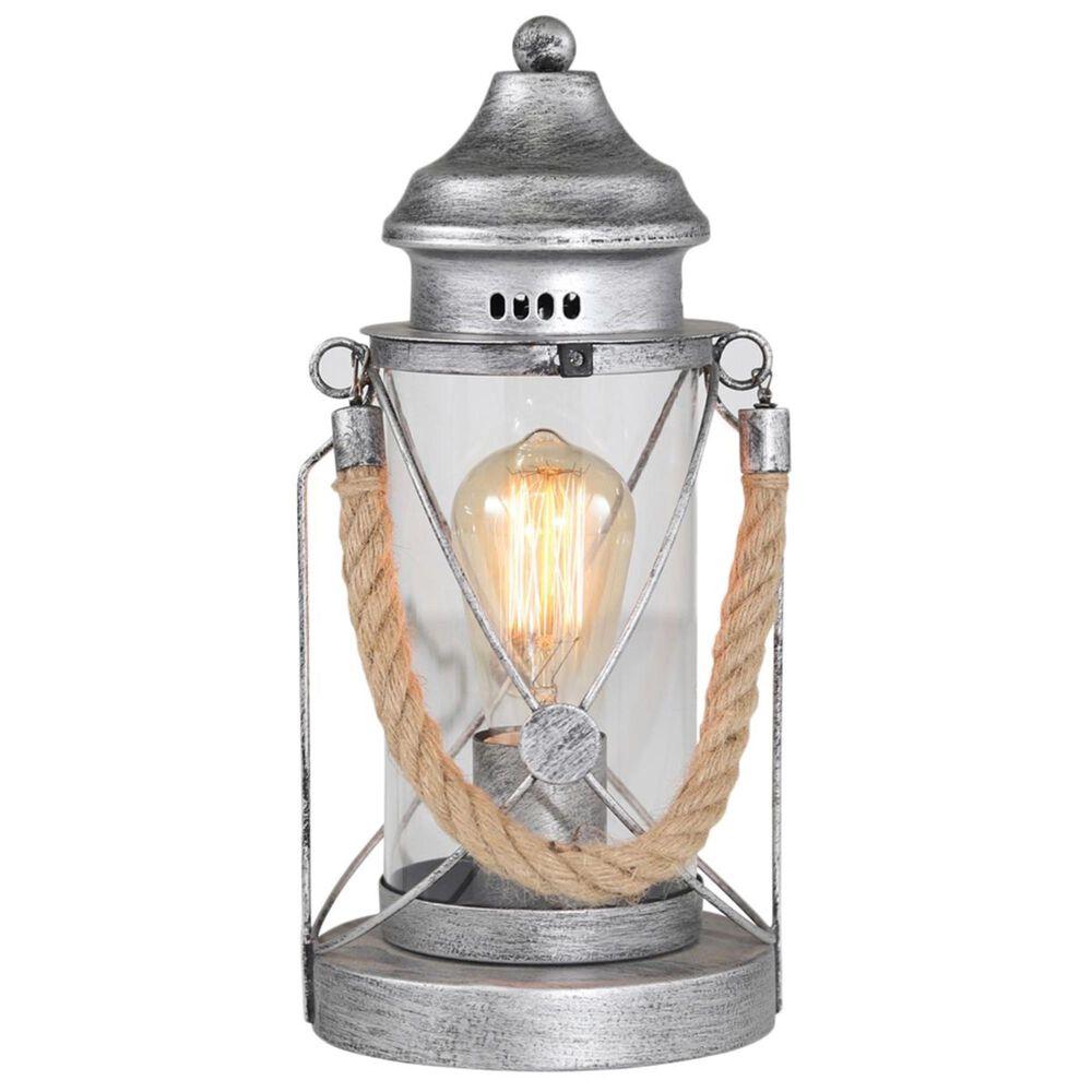 "Sagebrook Home 13"" Lantern Lamp in Silver, , large"