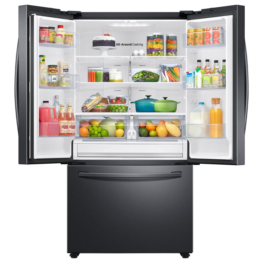 Samsung 2-Piece Kitchen Package with 27.7 Cu. Ft. French Door Refrigerator in Black Stainless Steel, , large