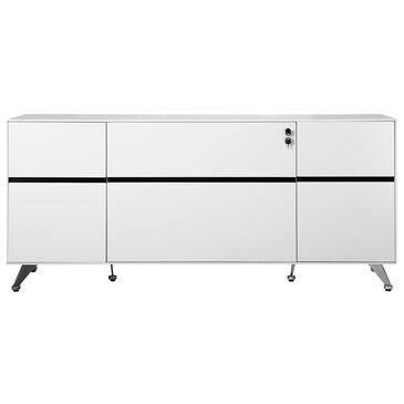 Unique Furniture 400 Collection Credenza in White, , large