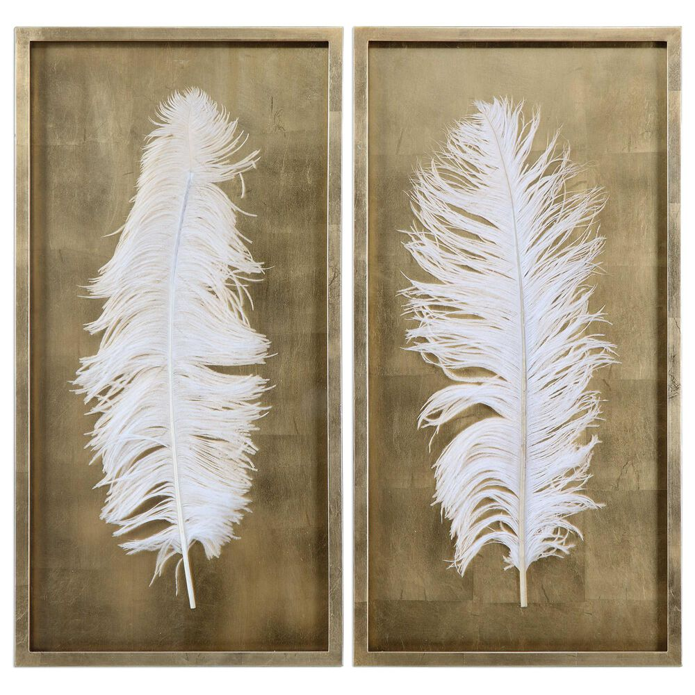 Uttermost Feather Shadow Box (Set of 2), , large