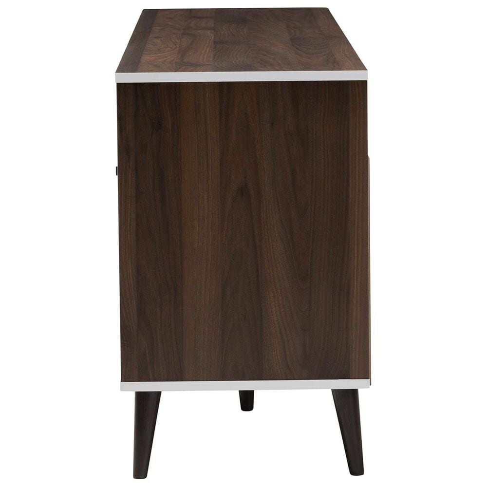 """Baxton Studio Marion 71"""" TV Stand in Walnut Brown and White, , large"""