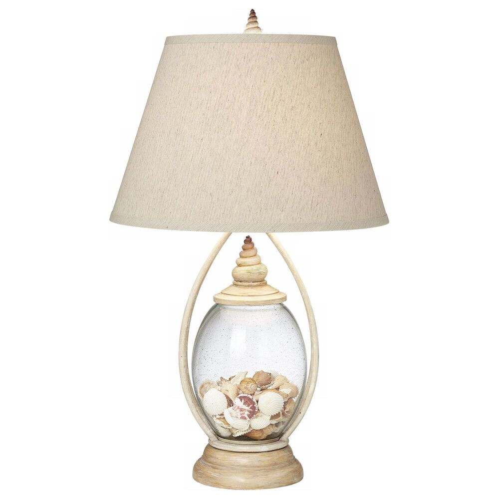 Pacific Coast Lighting Modern Farmhouse Seascape Reflections Table Lamp in Coralline Ivory, , large