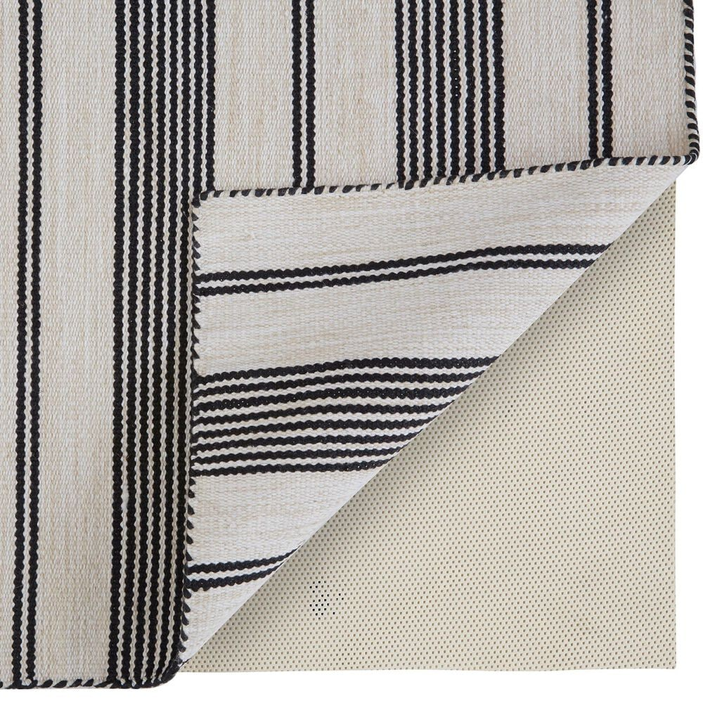 Feizy Rugs Duprine 2' x 3' Black and Ivory Area Rug, , large