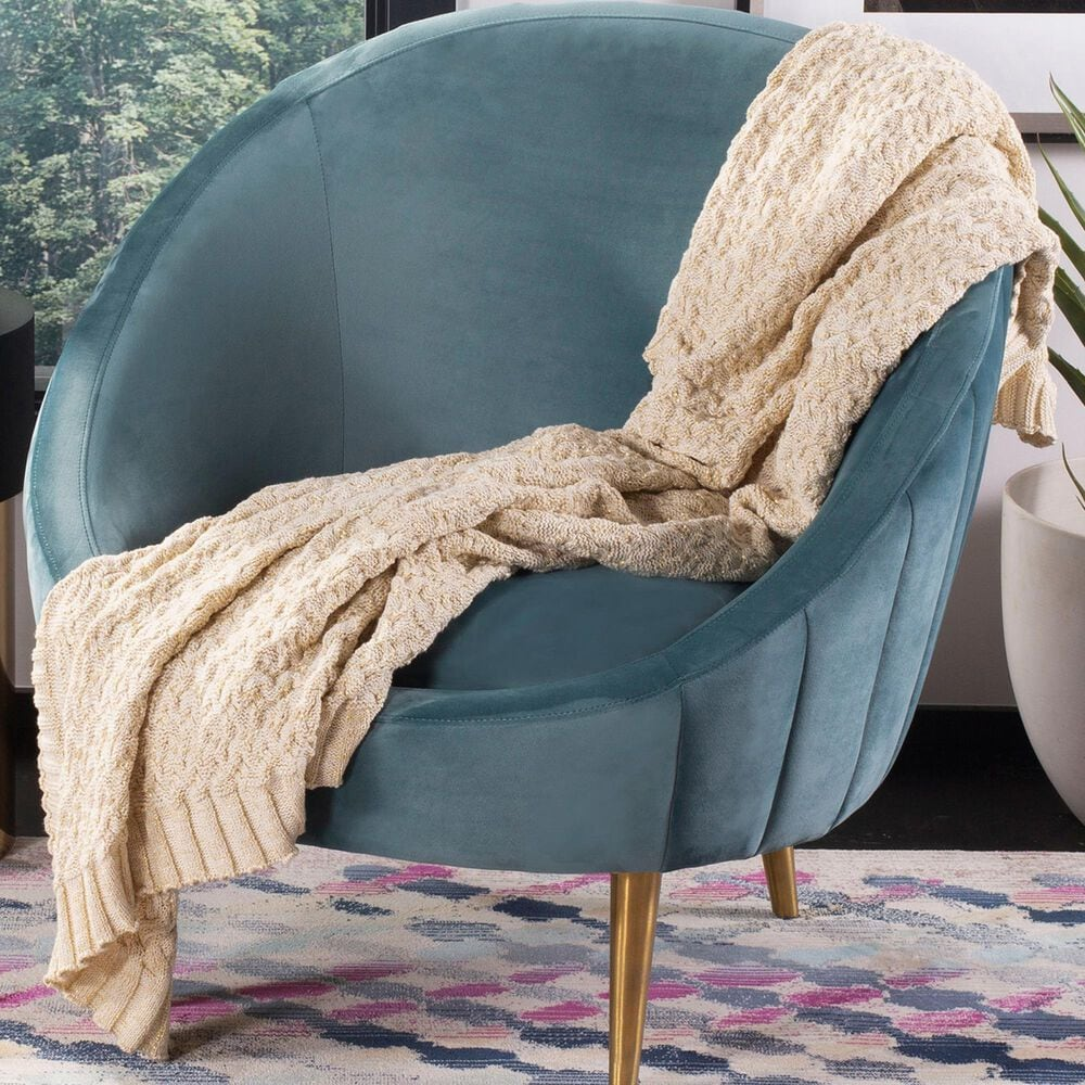 """Safavieh Adara 50"""" x 60"""" Throw in Natural and Gold, , large"""