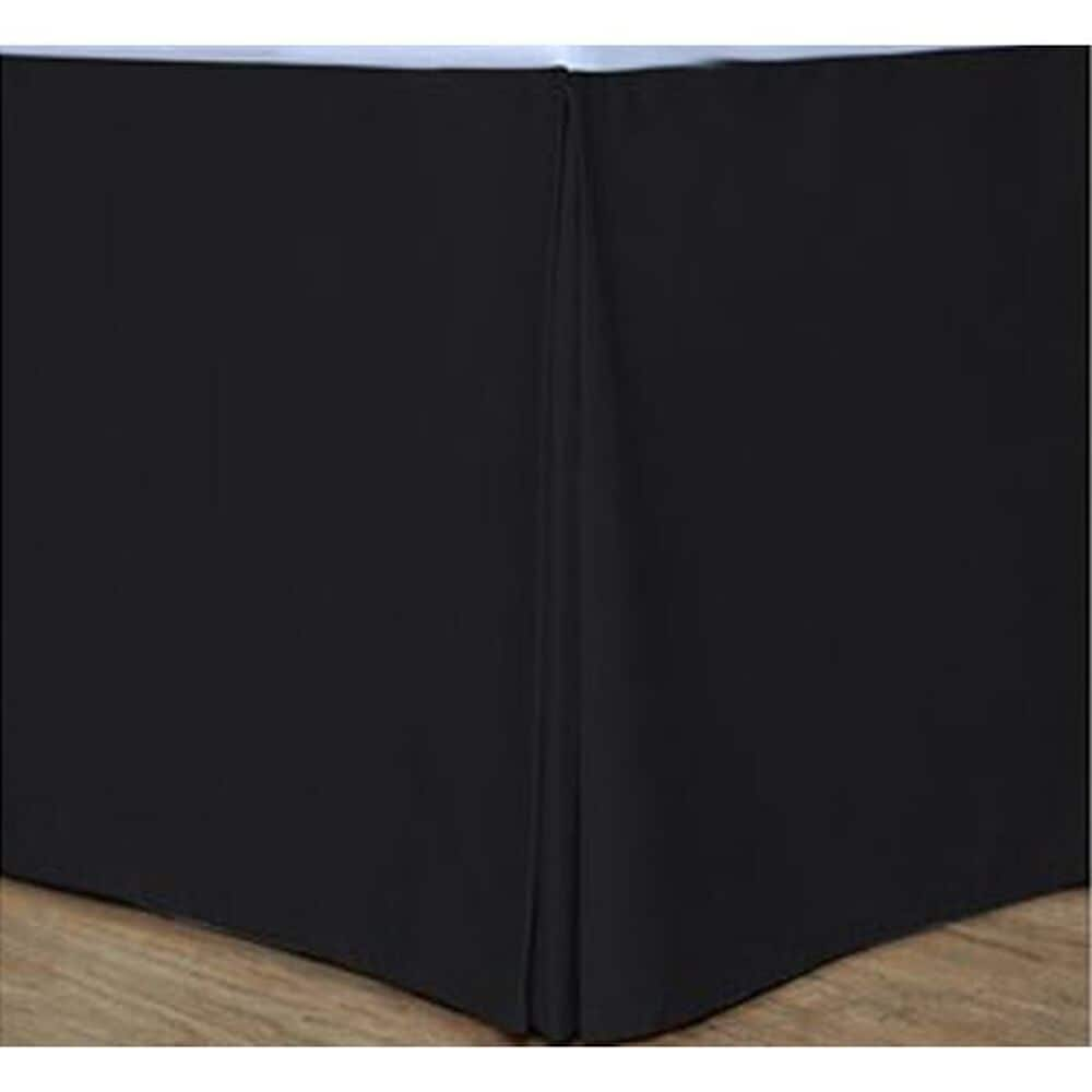 Epoch Hometex Cotton Loft Colors King Bed Skirt in Black, , large