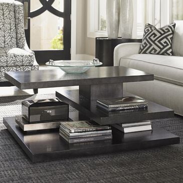 Lexington Furniture Carrera Evora Square Cocktail Table in Carbon Gray, , large