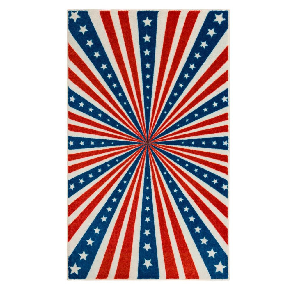 "Karastan American Stripes 2' x 3'3"" Blue Area Rug , , large"