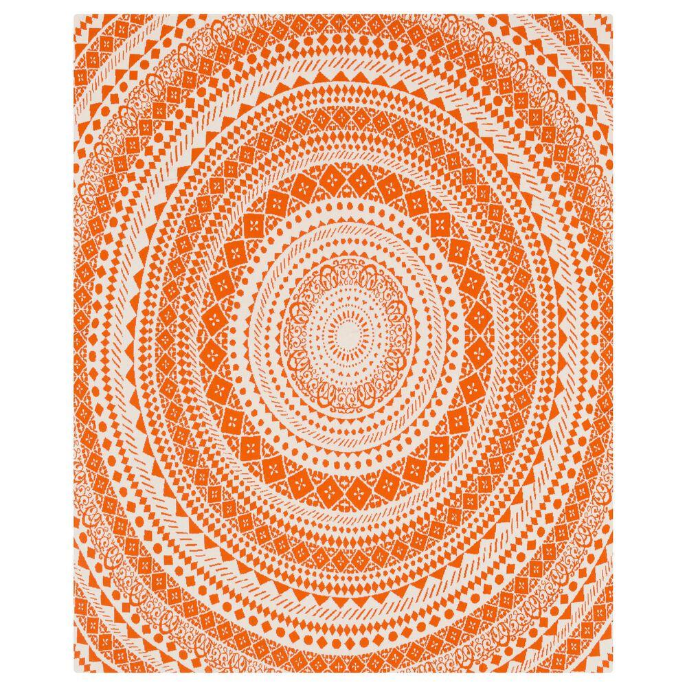 "Surya Inc Ekena 50"" x 70"" Throw in Orange and Cream, , large"