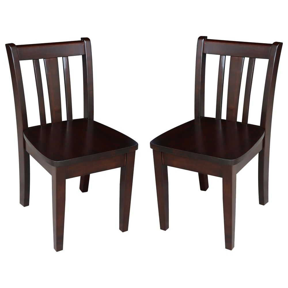 International Concepts San Remo Juvenile Chairs in Rich Mocha (Set of 2), , large