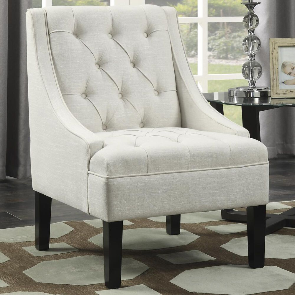 Accentric Approach Accentric Accents Upholstered Swoop Arm Chair in Avanti Powder, , large