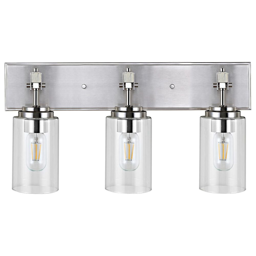 Safavieh Warley Wall Sconce in Nickel/Clear, , large