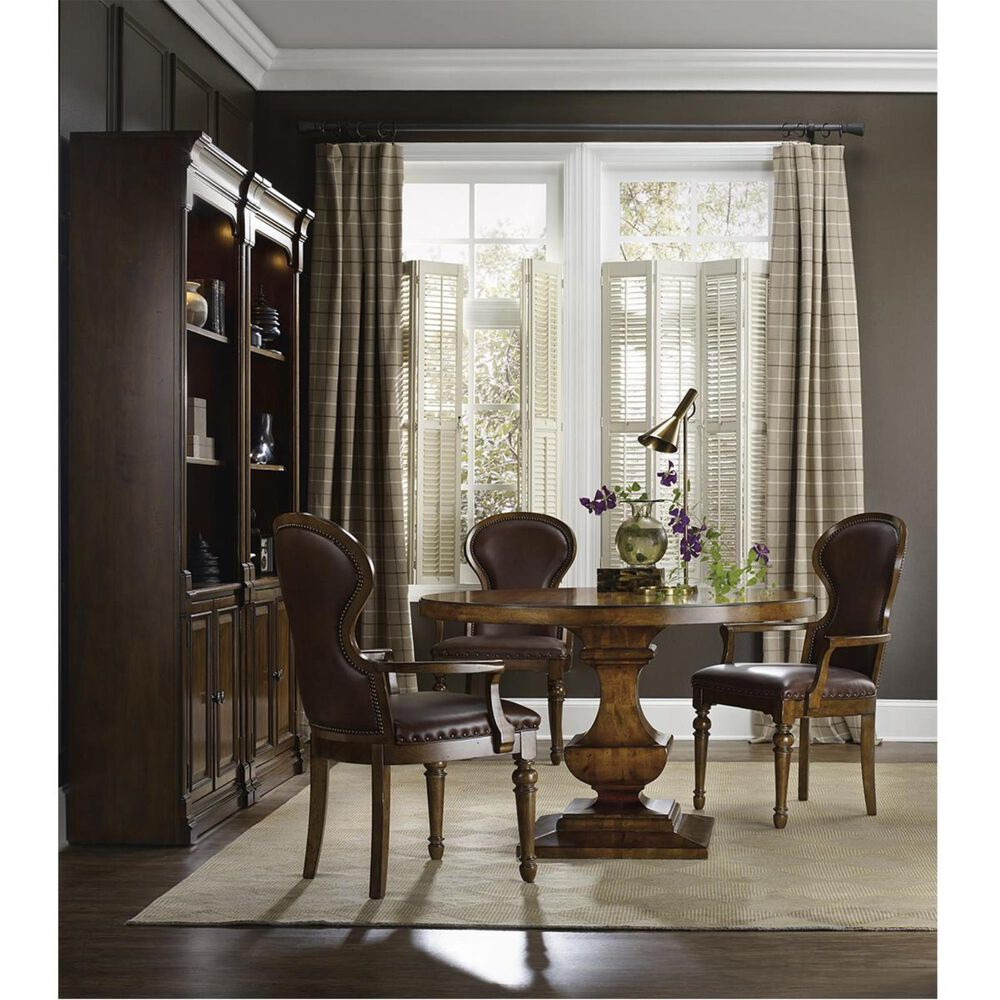 Hooker Furniture Tynecastle Pedestal Dining Table - Table Only, , large