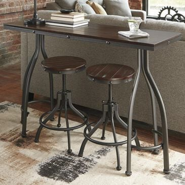 Signature Design by Ashley Odium Counter Dining Set in Rustic Brown, , large