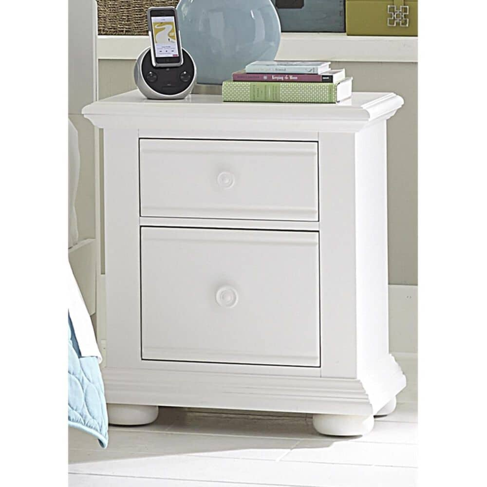 Belle Furnishings Summer House Youth 2 Drawer Nightstand in Oyster White, , large