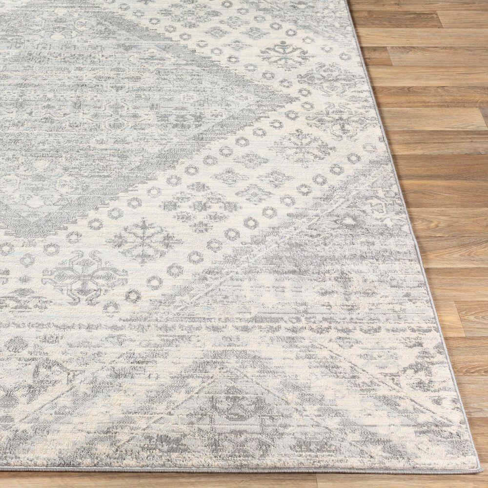 "Surya Monaco MOC-2326 6'9"" x 9'9"" Silver Gray and Cream Area Rug, , large"
