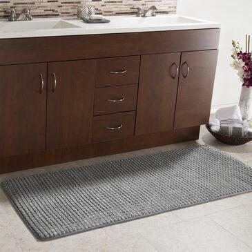 "Timberlake Lavish Home 24""X59"" Memory Foam Bath Mat in Platinum, , large"