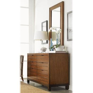 Tommy Bahama Home Ocean Club 6-Drawer Palm Bay Dresser and Palm Isle Mirror, , large