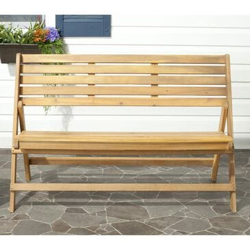 Safavieh Luca Folding Bench in Teak, , large
