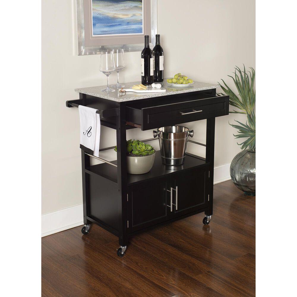 Linden Boulevard Ellie Kitchen Cart in Black, , large