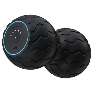Therabody Wave Duo Portable Smart Vibrating Roller in Black, , large