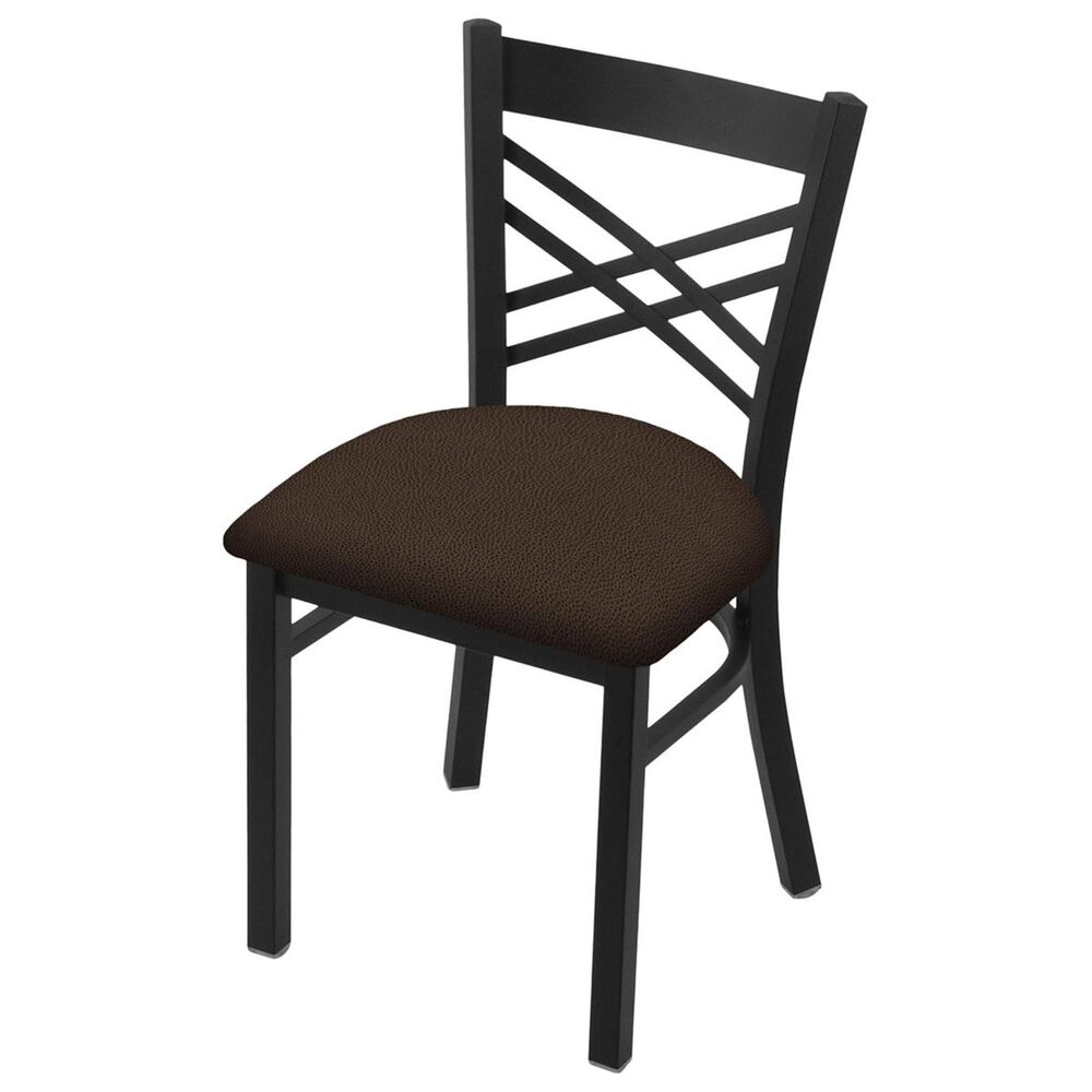 """Holland Bar Stool 620 Catalina 18"""" Chair with Black Wrinkle and Rein Coffee Seat, , large"""