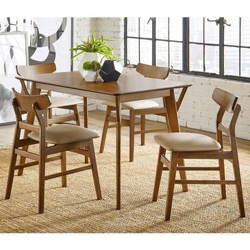 Tiddal Home Marlow 5-Piece Dining Set in Toffee, , large