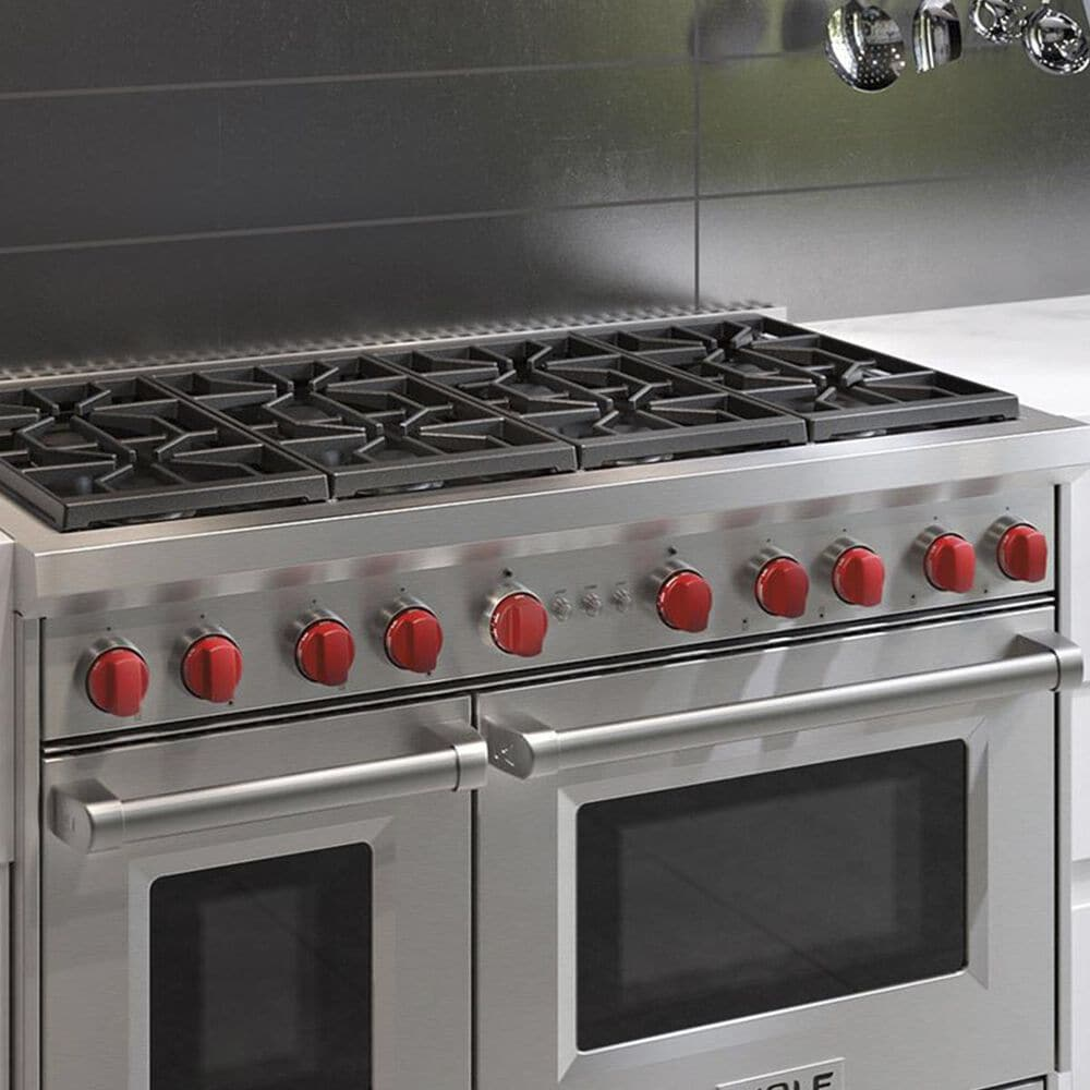 "Wolf 48"" Pro Gas Range in Stainless Steel, , large"