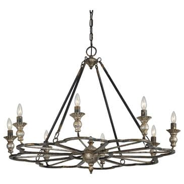 Southern Lighting Sterling Chandelier in Bronze, Gold, Silver and Champagne, , large
