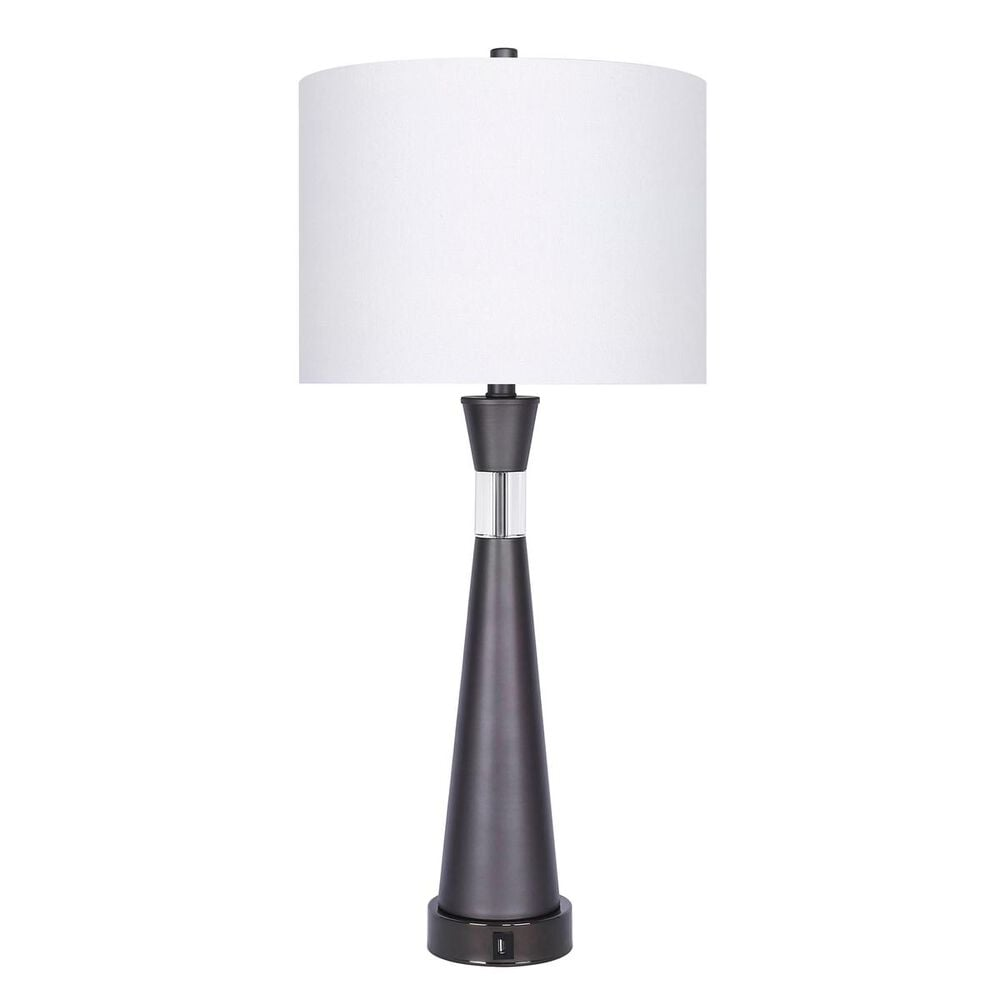 Grandview Gallery Table Lamp and Shade in Gray Slate, , large