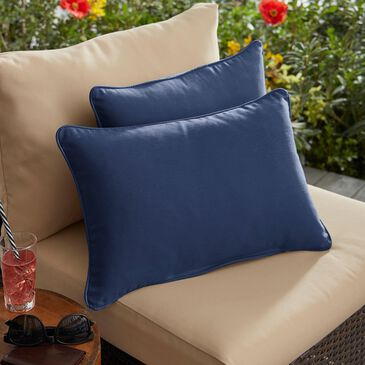 """Sorra Home Sunbrella 13"""" x 20"""" Pillow in Canvas Navy (Set of 2), , large"""