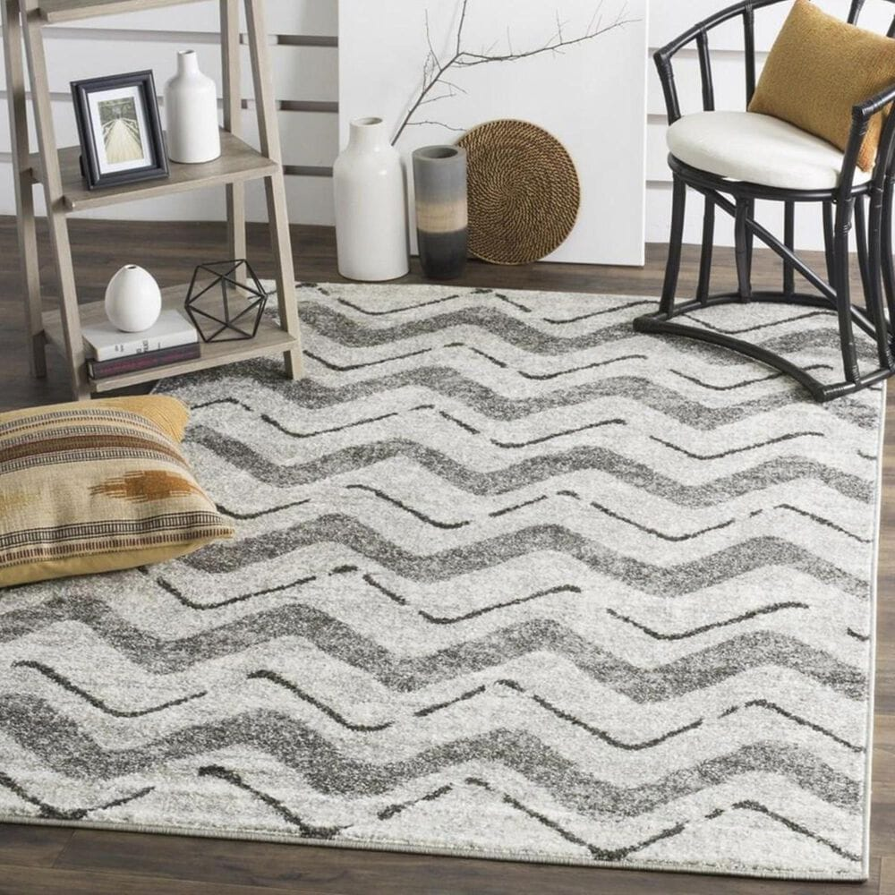 "Safavieh Adirondack ADR121P 5'1"" x 7'6"" Silver and Charcoal Area Rug, , large"