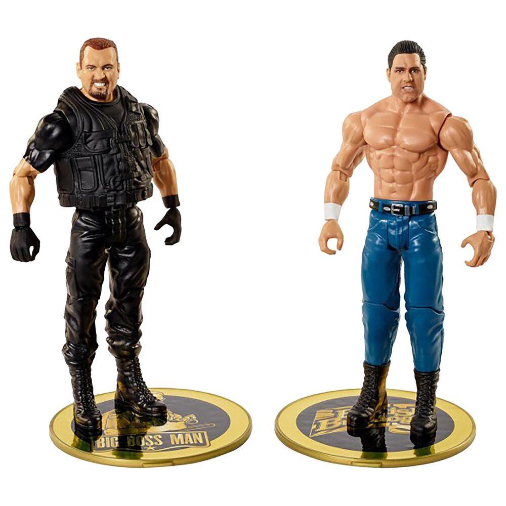 WWE Championship Showdown British Bulldog vs Big Bossman Action Figures - 2-Pack, , large