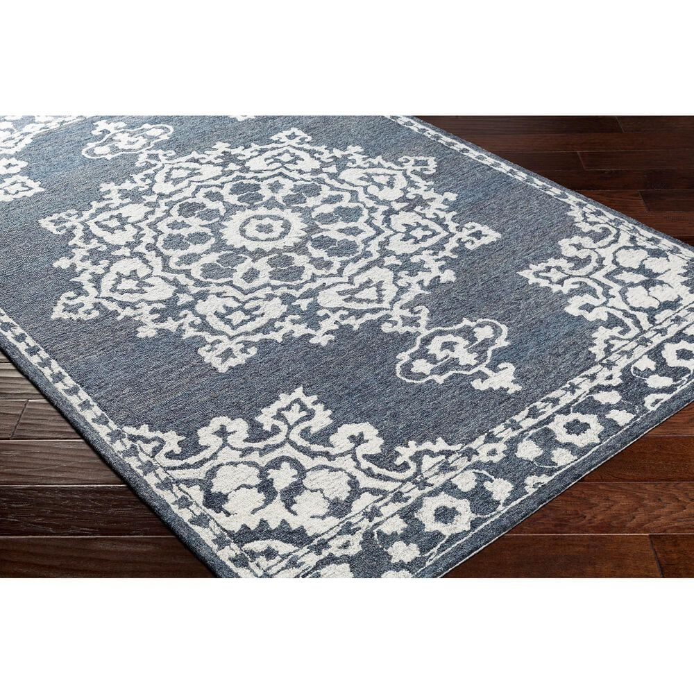 Surya Granada GND-2309 8' x 10' Charcoal and Cream Area Rug, , large