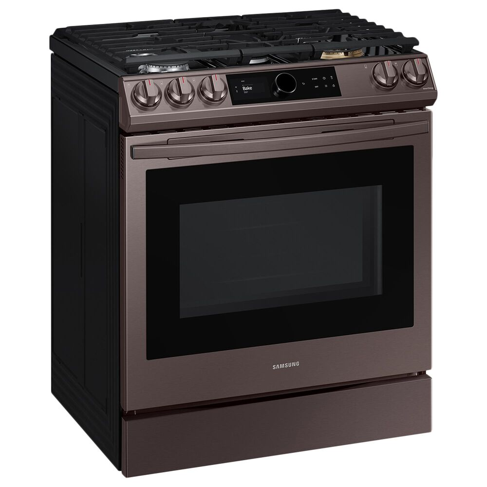 Samsung 6.0 Cu. Ft. Front Control Slide-in Gas Range with Smart Dial, Air Fry and Wi-Fi in Tuscan Stainless Steel, , large