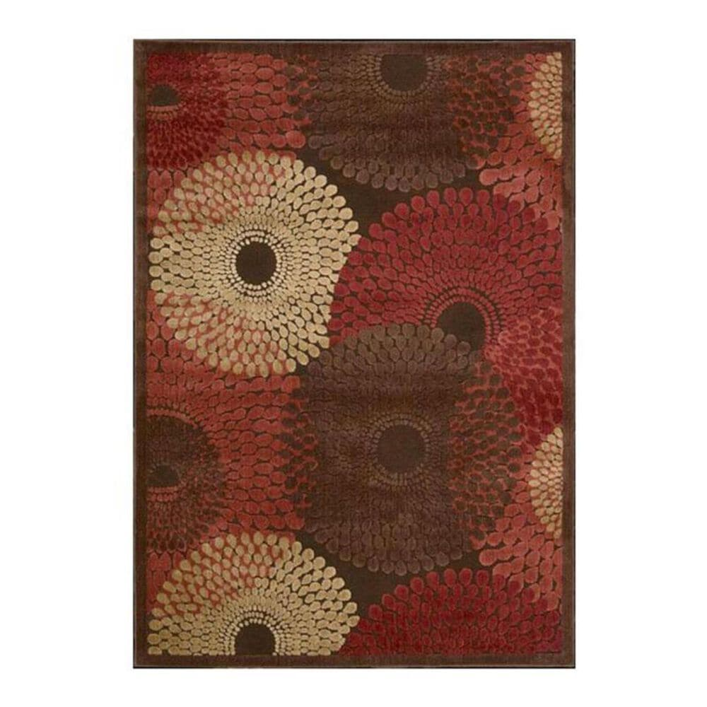 """Nourison Graphic Illusions GIL04 7'9"""" x 10'10"""" Brown Area Rug, , large"""
