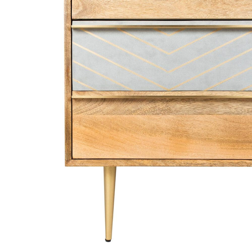 Safavieh Titan Chest in Natural Mango and Gold Inlay, , large