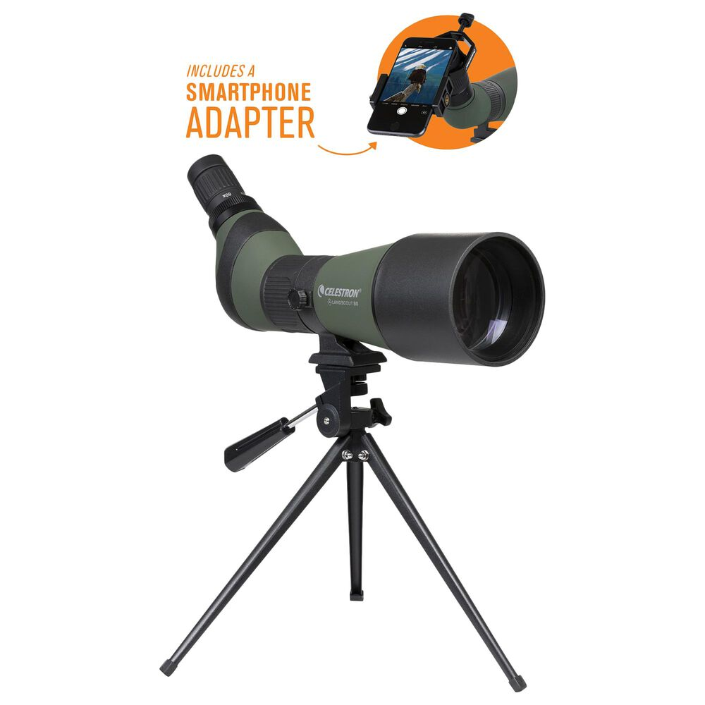 Celestron LandScout 20-60x80 Spotting Scope with Smartphone Adapter, , large