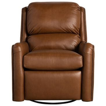 Smith Brothers Swivel Glider Power Recliner in Camel Brown, , large